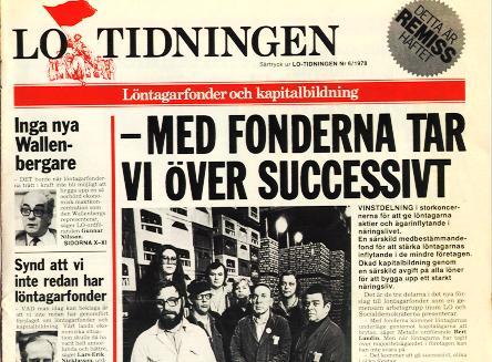 LO-tidningens förstasida nr 6 1978